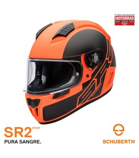 Casco Integral Schuberth SR2 Traction Naranja Mate