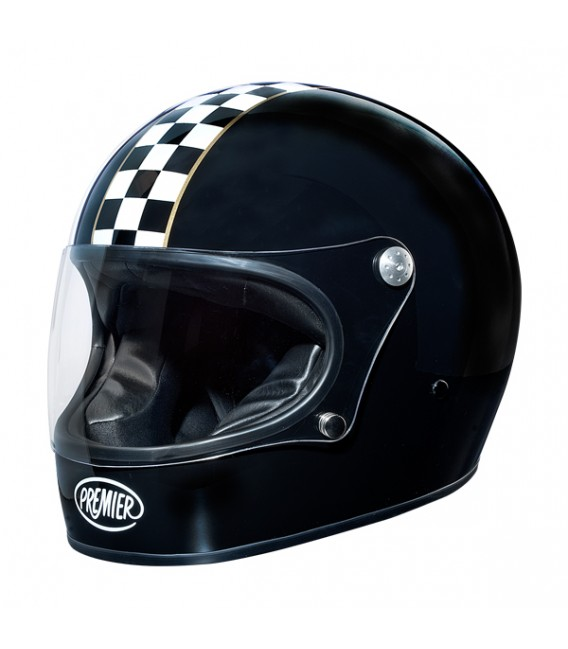 Casco Integral Retro Premier Trophy CK Black