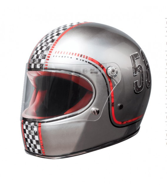 Casco Integral Retro Premier Trophy FL Chromed