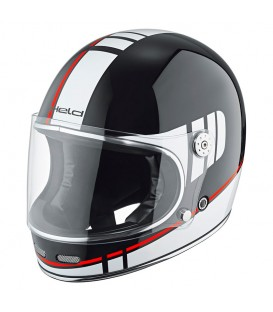 Classic Full-face Helmet Held Root White Black