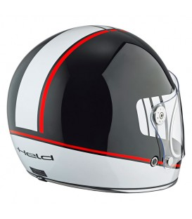 Casco Integral Clásico Held Root Negro Blanco