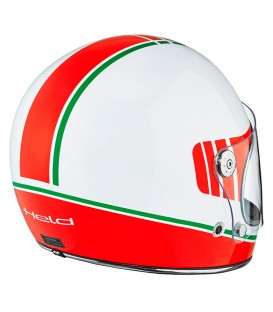 Casco Integral Clásico Held Root Blanco Rojo