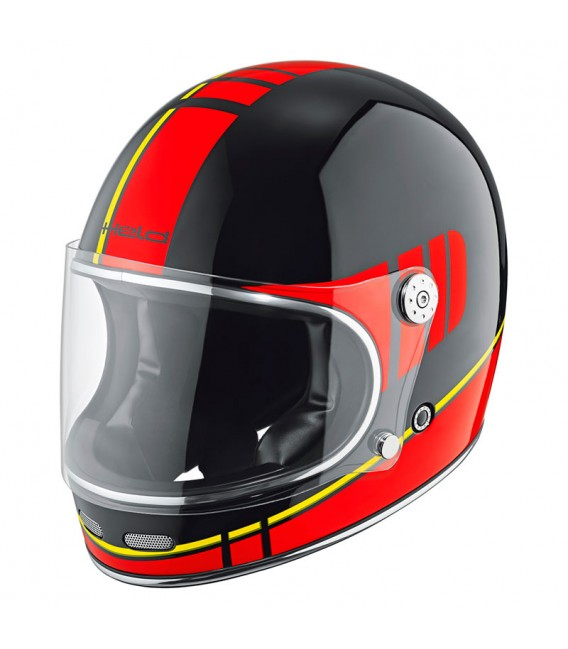 Casco Integral Clásico Held Root Negro Rojo