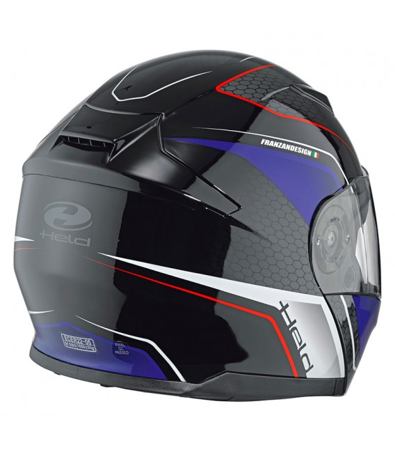 Casco modular Held Travel Champ II Negro Azul
