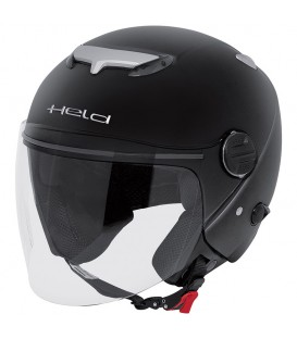 Casco Jet Held Top Spot Negro Mate
