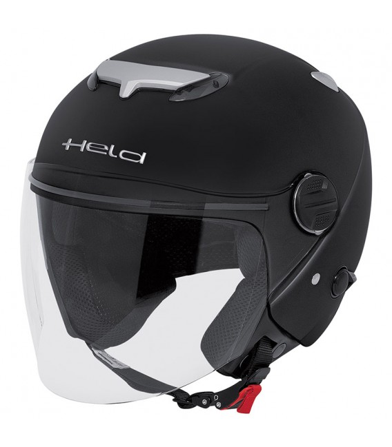 Casco Jet Held Top Spot Negro