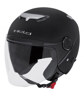 Jet Helmet Held Top Spot Black