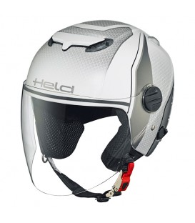 Jet Helmet Held Top Spot Desing White