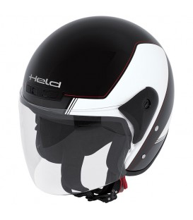 Jet Helmet Held Heros Black White