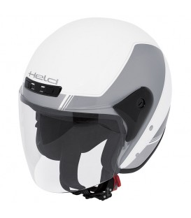 Jet Helmet Held Heros White Grey
