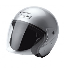 Casco Jet Held Heros Plata