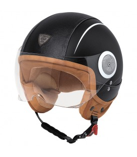 Casco Jet Held Mc Corry Piel