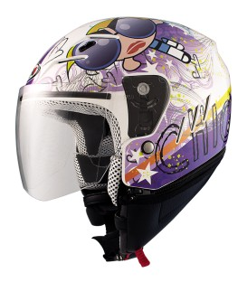 Casco Jet Shiro SH-20 Tres Chic