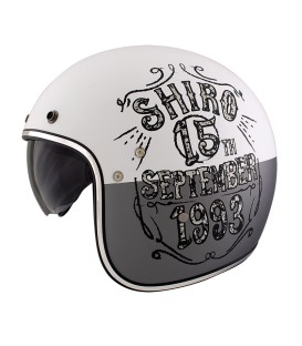 Shiro SH-235 Born Matt White Jet Helmet