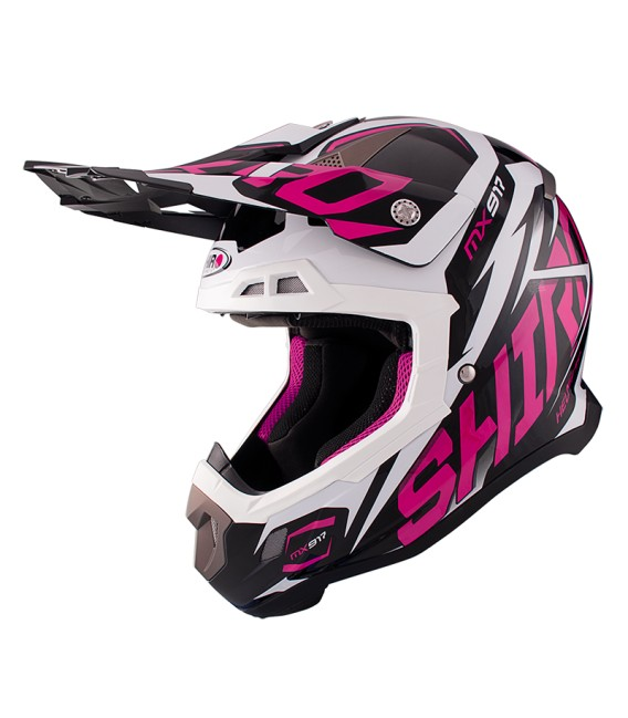 Shiro MX-917 Thunder Pink Off Road Helmet