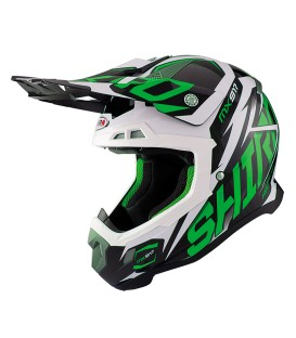 Casco Motocross Shiro MX-917 Kids Thunder Verde Fluor