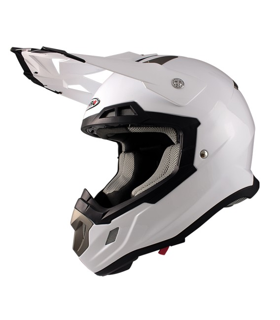 Shiro MX-917 White Off Road Helmet