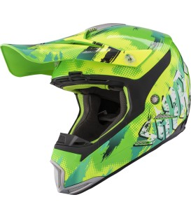 Casco de motocross Shiro MX-305 Sils Amarillo Verde
