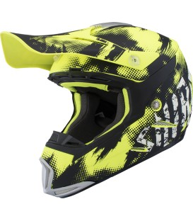 Shiro MX-305 Sils Yellow Fluor Off Road Helmet