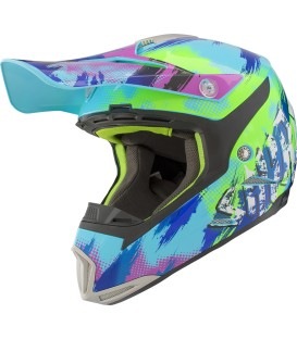 Shiro MX-305 Sils Blue Green Motocross Helmet