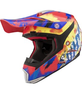 Shiro MX-305 Sils Blue Red Off Road Helmet