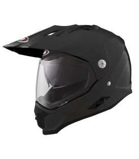 Shiro MX-313 Fiber Matt Black Off Road Helmet