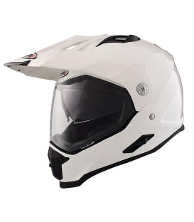 Shiro MX-313 Fiber White Off Road Helmet