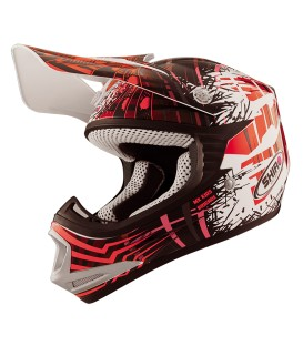 Casco de Motocross Shiro MX-306 Brigade Kid Rojo