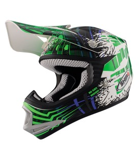 Casco de Motocross Shiro MX-306 Brigade Kid Verde Fluor
