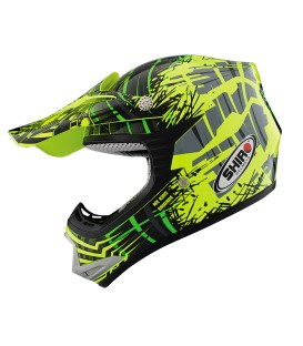 Casco de Motocross Shiro MX-306 Brigade Kid Amarillo Fluor