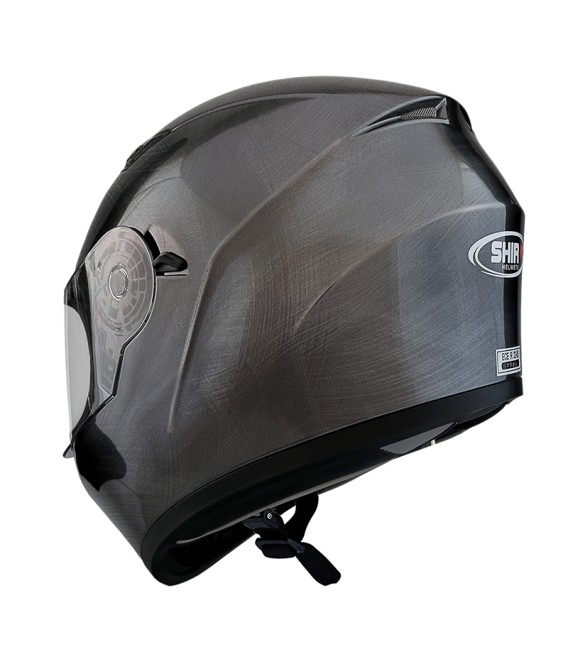 Shiro SH-600 Scratched Chrome Full face Helmet