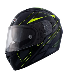 Shiro SH-600 Matt Fluor Yellow Full face Helmet