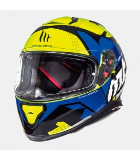 MT Helmets Thunder 3 SV Gloss Fluor Yellow Blue