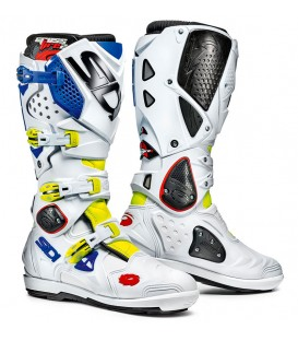Motocross Boots Sidi Crossfire 2 SRS Fluor Yellow Blue White