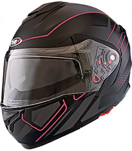 Shiro SH-501 Mile Negro Mate rojo