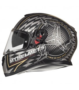 MT Helmets Thunder 3 SV Isle of Man Matt Black Gold