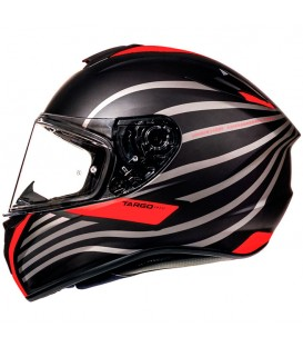 MT Helmets Targo Doppler A0 Matt Fluor Red