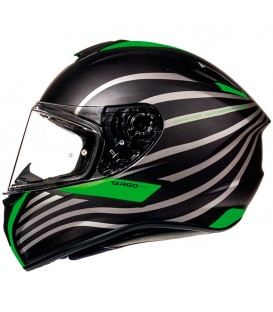 MT Helmets Targo Doppler A2 Matt Fluor Green