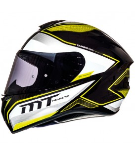 MT Helmets Targo Interact A4 Gloss Pearl Fluor Yellow