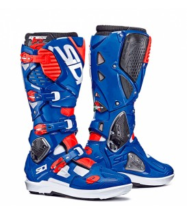Motocross Boots Sidi Crossfire 3 SRS White Blue Red