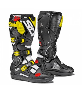 Motocross Boots Sidi Crossfire 2 SRS White black Yellow