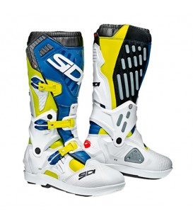 Off Road Boots Sidi ATOJO SRS Fluor Yellow White Blue