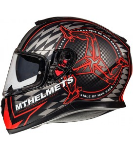 MT Helmets Thunder 3 SV Isle of Man B5 Matt Red