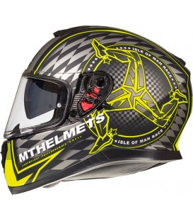 MT Helmets Thunder 3 SV Isle of Man Matt Black Fluor Yellow