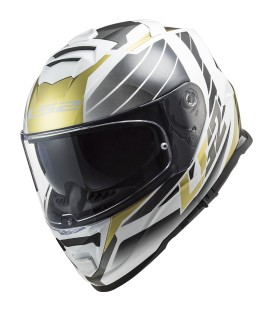 LS2 FF800 Storm NERVE White Antique Gold