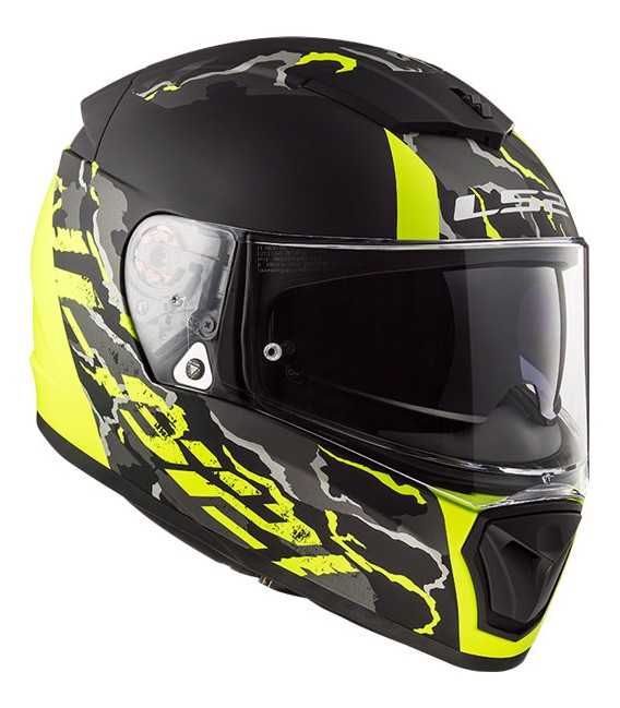 LS2 FF390 Breaker FELINE Matt Black H-V Yellow