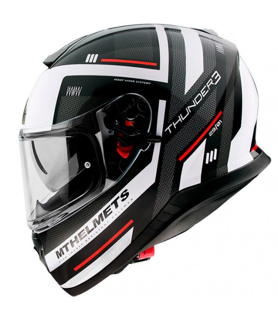 MT Helmets Thunder 3 SV Carry E0 Gloss Pearl White
