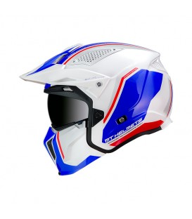 MT Helmets STREETFIGHTER SV Twin B7 Gloss Pearl Blue