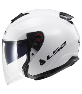 Casco Jet LS2 OF521 Infinity Solid Gloss White