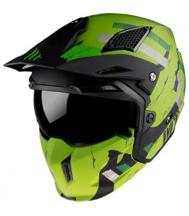 MT Helmets STREETFIGHTER Skull 2020 A16 Matt Green